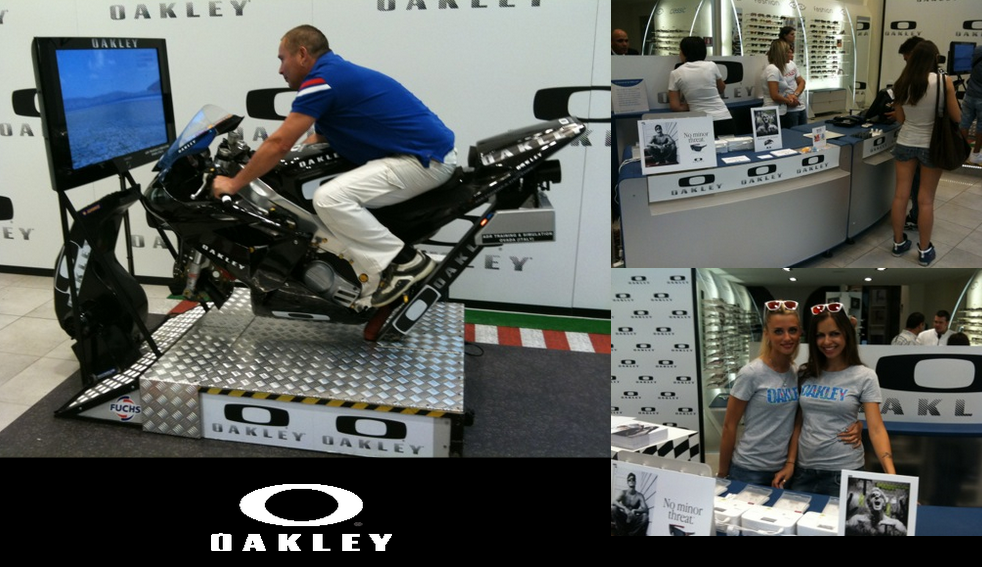 Oakley-consumer-activation-motorcycle-simulator