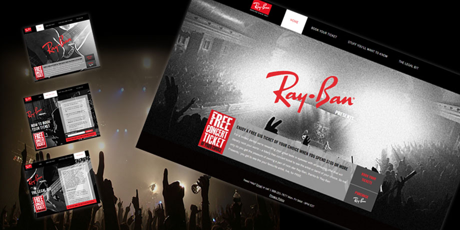 consumer-sales-promotion-RayBan-concert-ticket-reward